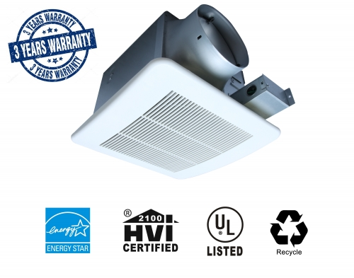 Ultra Quiet 110CFM Ceiling Exhaust Bathroom Fan - 3 Years Warranty