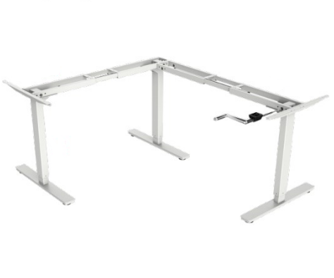 Akicon Height Adjustable Desk Frame with Front Crank - L