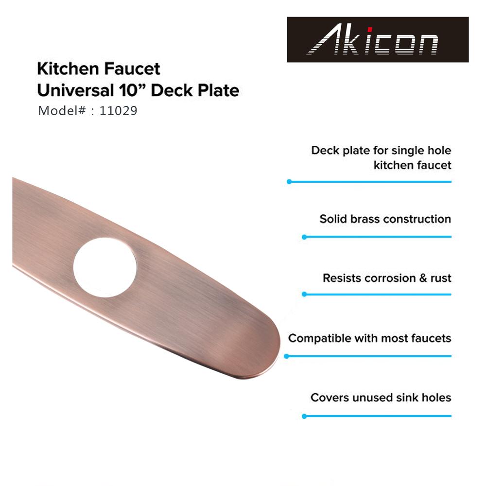 Copper Kitchen Sink Faucet Hole Cover Deck Plate Escutcheon Lifetime Warranty