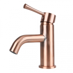 One-Handle Copper Bathroom Sink Faucet - 5 Years Warranty