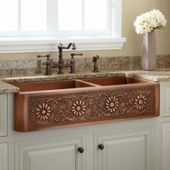 Akicon Equal Bowl Copper Apron Kitchen Sink