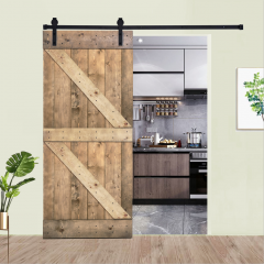 Paneled Wood Barn Door with Installation Hardware Kit - K5 Series