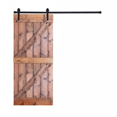 Paneled Wood Barn Door with Installation Hardware Kit - K4 Series