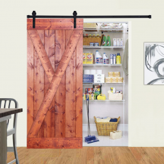 Paneled Wood Barn Door with Installation Hardware Kit - Y Series