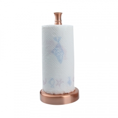 Copper Paper Towel Holder Roll Dispenser Stand for Kitchen Countertop & Dining Room Table