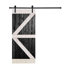 Paneled Wood Barn Door with Installation Hardware Kit - BW Series