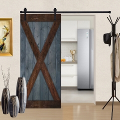Paneled Wood Barn Door with Installation Hardware Kit - GB Series