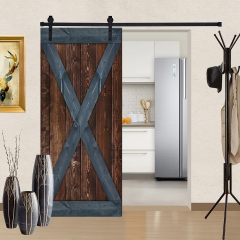 Paneled Wood Barn Door with Installation Hardware Kit - BG Series
