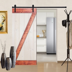 Paneled Wood Barn Door with Installation Hardware Kit - WH Series