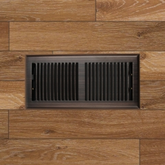 "Akicon 4""x10"" Floor Register with Trap Net, 4-Inch x 10-Inch Duct Opening Measurements, Oil Rubbed Bronze Finishing"