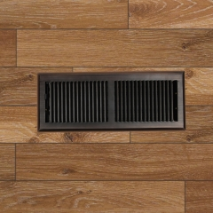 "Akicon 4""x12"" Floor Register with Trap Net, 4-Inch x 12-Inch Duct Opening Measurements, Oil Rubbed Bronze Finishing"